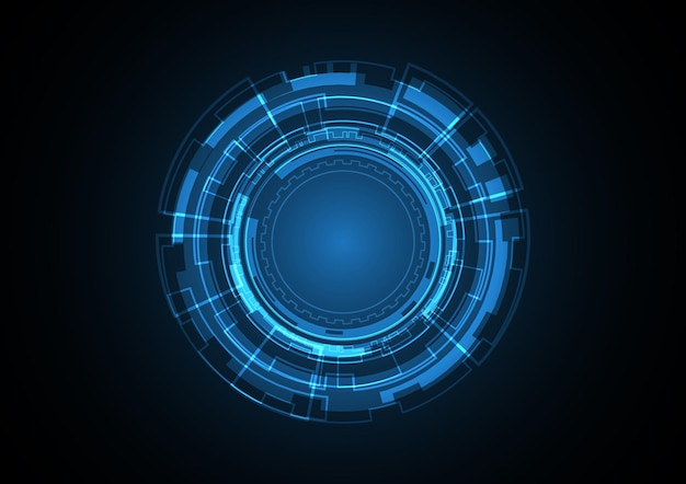 Technology abstract future circle background vector illustration Premium Vector