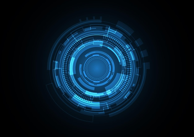 Technology abstract future circle background vector illustration