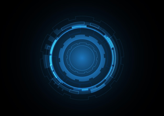 Technology abstract future circle background