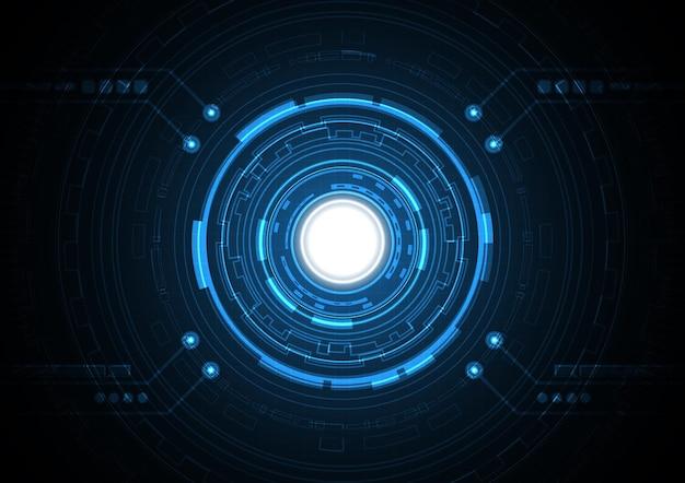 テクノロジー抽象的な未来のサークルの背景