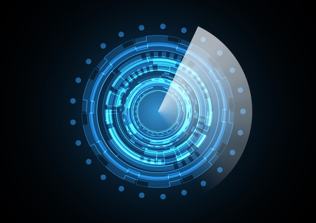 Technology abstract future circle radar background