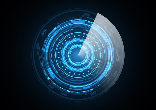 Technology abstract future circle radar illustration