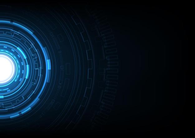 テクノロジーアブストラクトフューチャーサークル