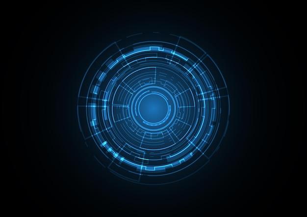 Technology abstract future circle