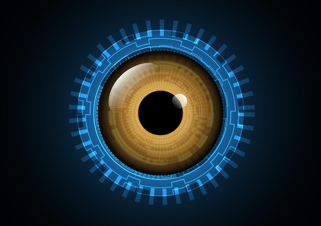 Technology abstract future eye background