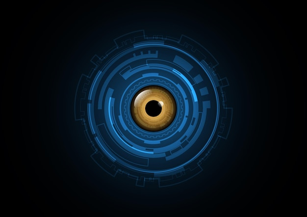 Technology abstract future eye circle background vector illustration