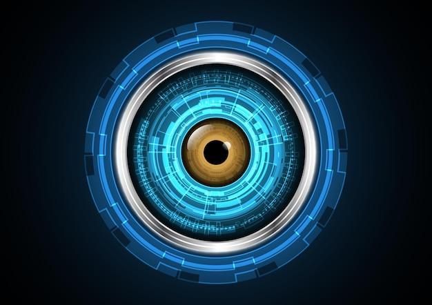 Технология абстрактного будущего глаз круг фон