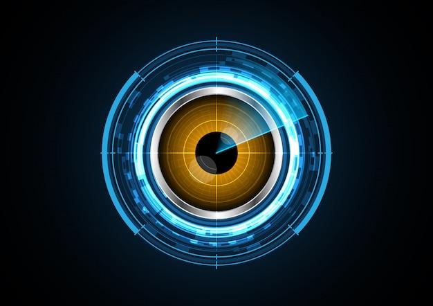 Technology abstract future eye circle radar background vector illustration