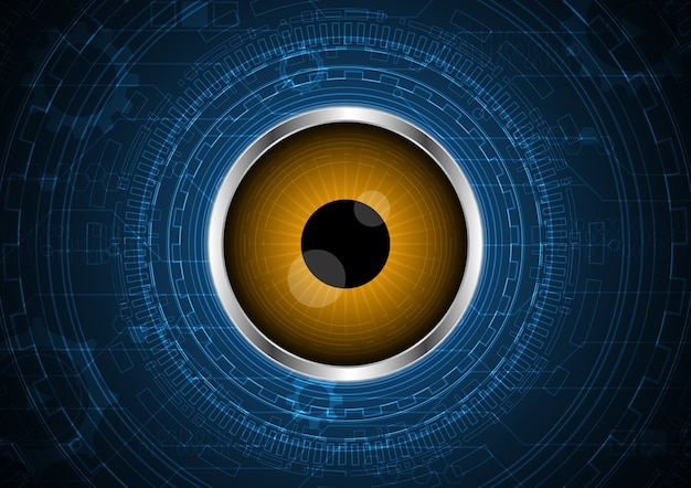 Technology abstract future eye circuit circle background