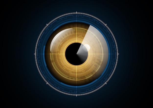 Technology abstract future eye radar circle background