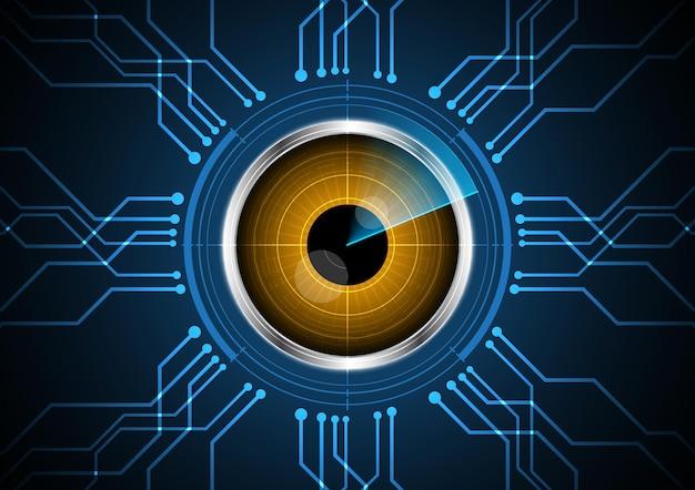 技術抽象的な未来の目のレーダー回路の背景