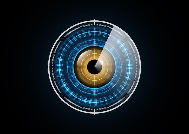 Technology abstract future eye radar scan security circle background