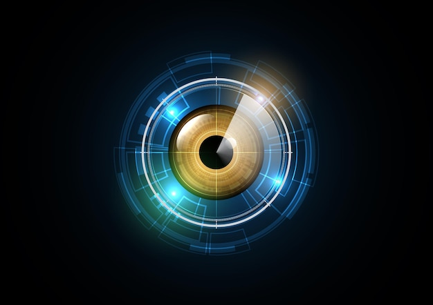 Technology abstract future eye radar security circle background   illustration