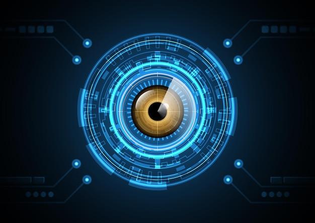テクノロジー抽象未来アイレーダーセキュリティサークル