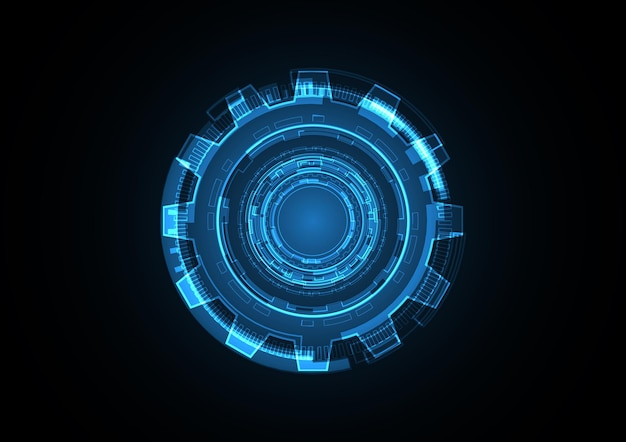 Technology abstract future gear circle background vector illustration