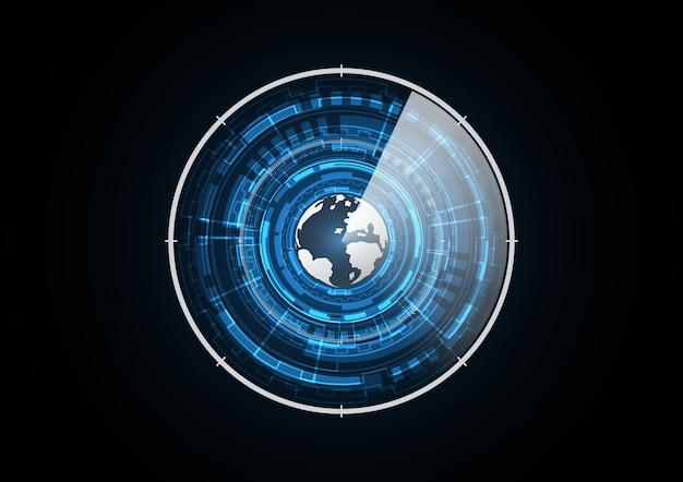 Technology abstract future globe radar circle background   illustration