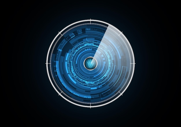 Technology abstract future hand radar security circle