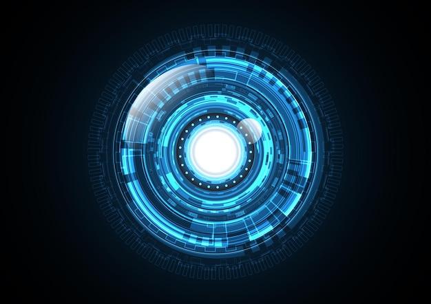 技術抽象未来ライトサークル背景イラスト