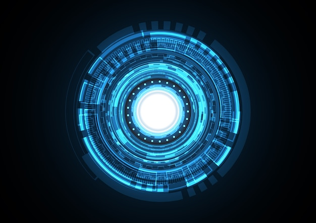 Technology abstract future light circle background