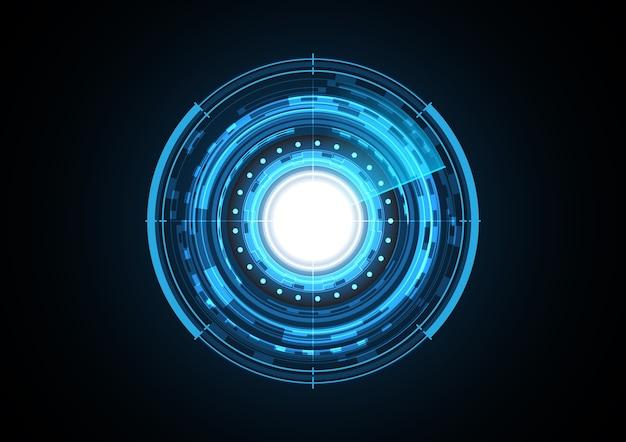 Technology abstract future light circle radar background