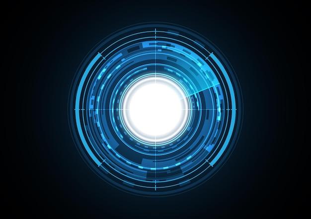 技術抽象的な未来のライトサークルレーダーの背景
