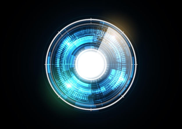 Technology abstract future light radar security circle background illustration