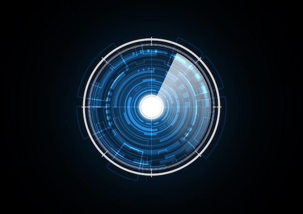 Technology abstract future light radar security circle background vector illustration