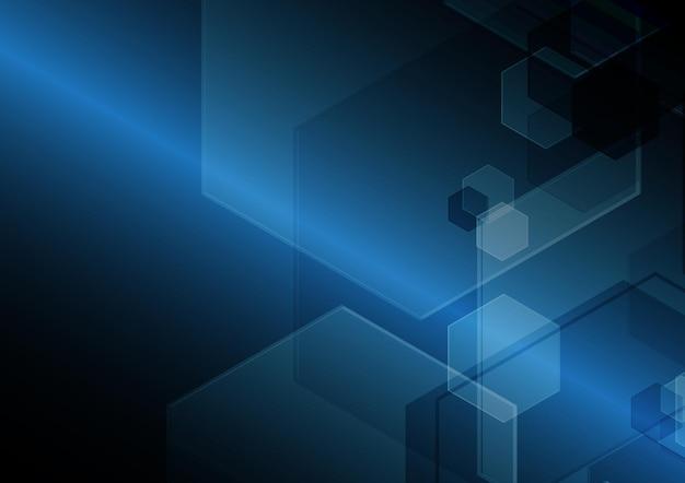 テクノロジー抽象的な未来の現代の六角形の背景