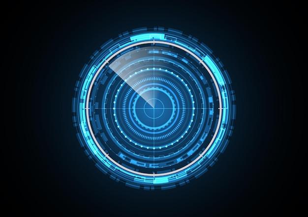Technology abstract future radar circle background   illustration