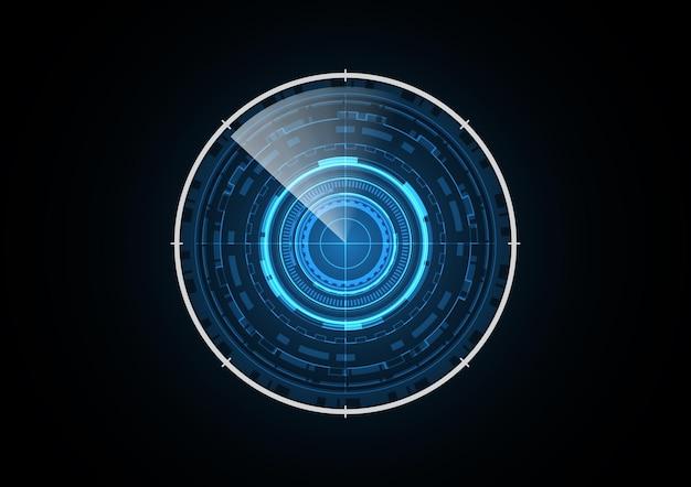Technology abstract future radar circle background vector illustration Premium Vector