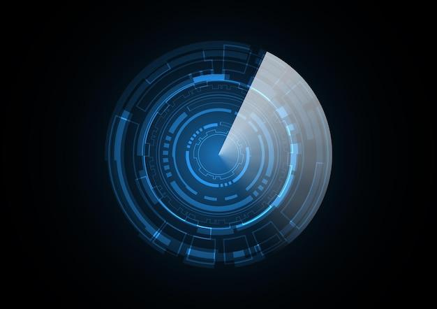 Technology abstract future radar circle background vector illustration