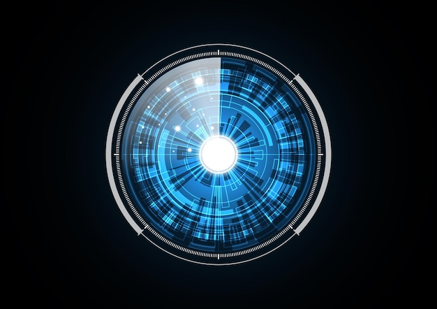 Technology abstract future radar security circle background   illustration Premium Vector