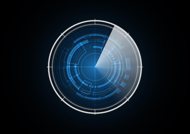 Technology abstract future radar security circle background vector illustration