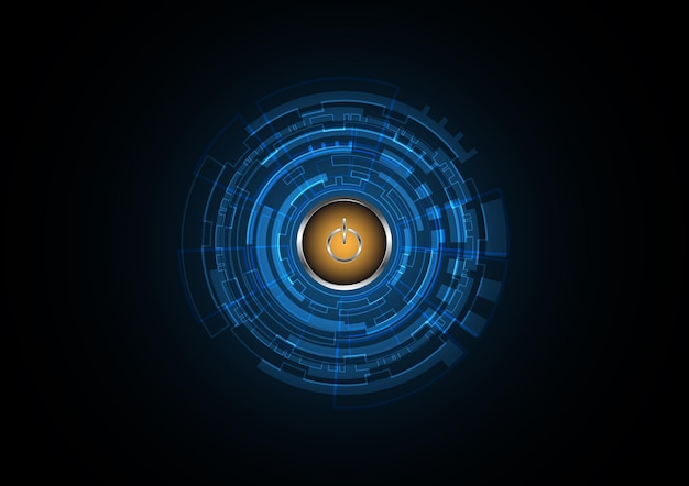 Technology abstract power future circle background vector illustration