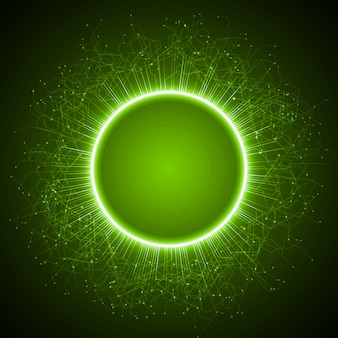 Technology abstract with energy ring and lines  background