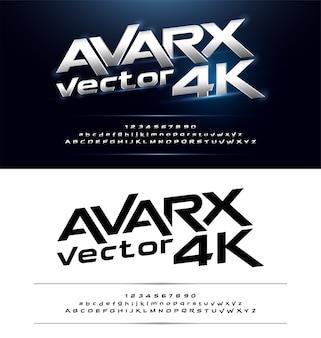 Технология алфавита серебристый металлик и эффекты дизайна