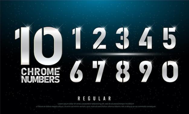 기술 알파벳은 숫자 금속 및 효과