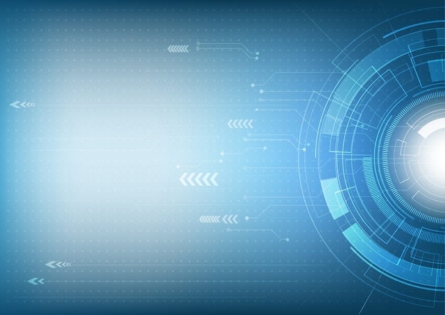 기술 및 디지털 하이테크 배경