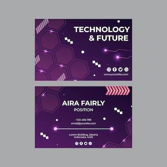 기술 및 미래 명함 서식 파일