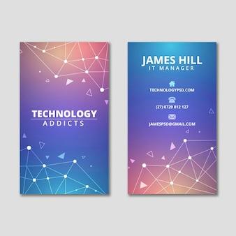 テクノロジーと将来の両面名刺