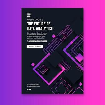 テクノロジーと将来のチラシ垂直