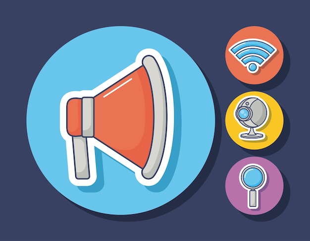 기술 및 혁신 디자인 아이콘 벡터 ilustration