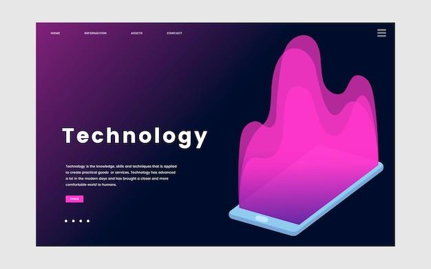 テクノロジーおよびit情報ウェブサイトのグラフィック