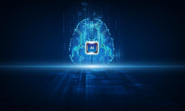 Technology artificial intelligence brain