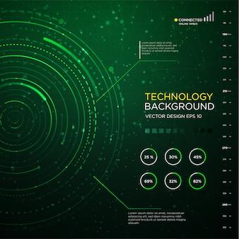 Технология backgound с абстрактным интерфейсом круга