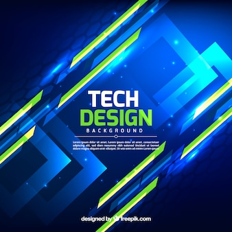 Technology background in abstract style