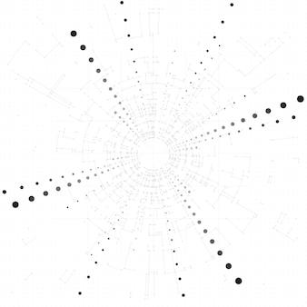 연결된 선과 점 비즈니스 과학 의학 및 기술 디자인 추상적 인 배경 현대 디자인 기하학적 패턴 기술 배경 빅 데이터 개념 배경