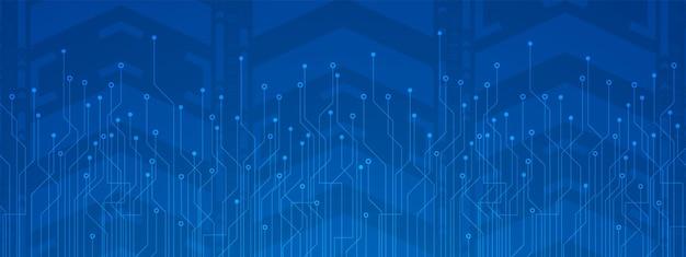 技術の背景青い回路基板デジタル電力線デジタル矢印の動きの背景