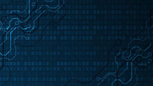 Технология фон печатной платы hi-tech коммуникационная концепция инновации абстрактный фон векторные иллюстрации