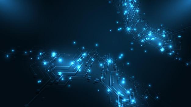 기술 배경 회로 기판 하이테크 통신 개념 혁신